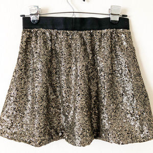 Jessica Simpson Skirts - Jessica Simpson Black and Gold Sequin Mini Skirt